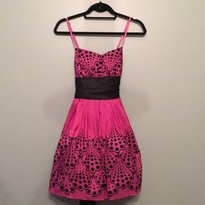 Dresses & Skirts - Pink and Black Party Dress